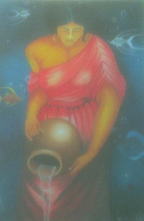Mujer con cántaro de agua