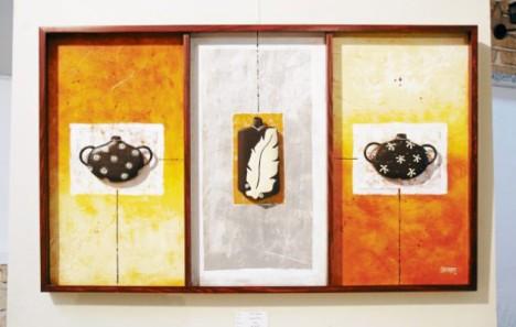 """La belleza de la artesanía lenca está representada en esta obra llamada """"Equilibrio étnico""""."""
