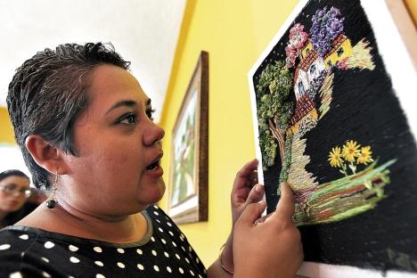 La destacada comunicadora de El Heraldo dedica sus horas libres a la creación de verdaderas obras de arte