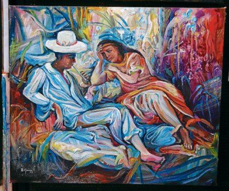Benigno Gómez fue uno de los 44 pintores que expusieron sus obras