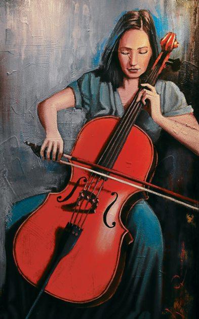 """""""Sonido del alma"""", una pintura de José Reyes."""