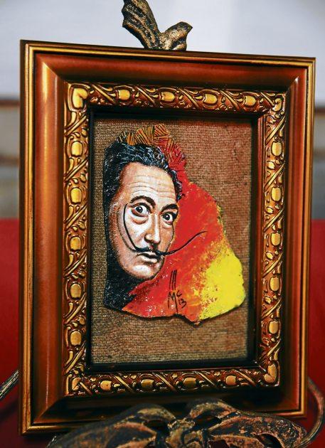 "obra en acuarela ""Salvador Dalí""."