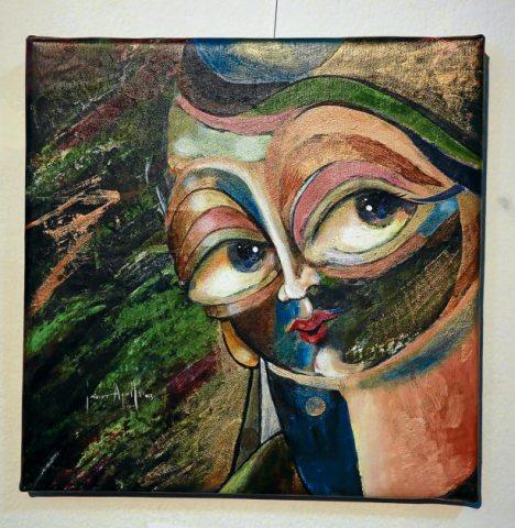 """Esta obra de Javier Aguilar se titula """"Escape bajo tu rostro""""."""
