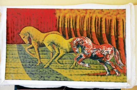 El artista Iván Soto, además de exponer su obra también participará en la elaboración de un mural.