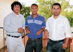 Sergio Martínez, Iván Soto y Dennis Cerrato, tres de los pintores que expondrán en Knoxville, Tennessee.