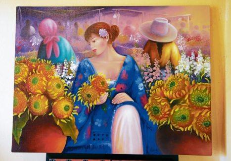 Los colores de la primavera están presentes en la obra de Sergio Martínez.