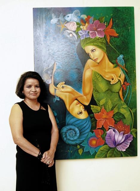 el IHCI realizó una exposición de la pintora Irazema Ríos, que fue parte de las muestras que año con año realiza en honor a un artista nacional.