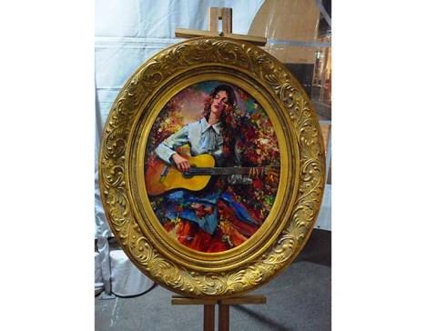 El estilo del pintor Orlando Roque, formó parte de la muestra