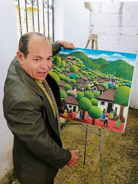 Ángel Francisco Ardón. El colorido que Ardón transmite en sus piezas es esencia de su alma y creatividad al momento de hacer las mezclas de colores.