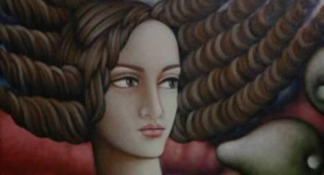 """Rossel Barralaga, 2013, """"Sin título"""", pintura"""