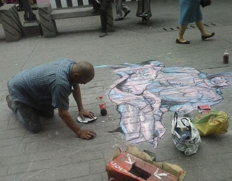 Obras de Rubens y Diego Rivera brillan en el adoquín capitalino.