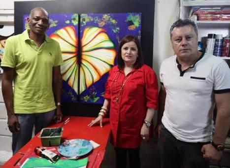 Santos Arzú Quioto, Carolina Carías y Francisco Pinto Rodezno se unen para poner en alto el arte en Honduras.