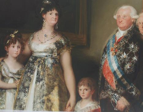 """También se apreciaron obras de Francisco de Goya, entre ellas """"La Familia de Carlos IV""""."""