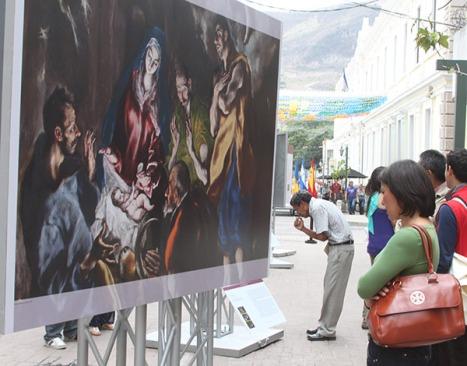 Los capitalinos, admiraron las impresionantes obras del arte universal que por primera vez se exhiben en Honduras.