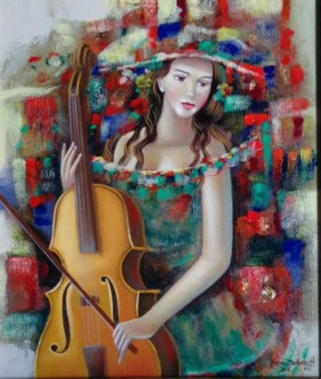 La música y la mujer en la obra de Sergio Martínez.