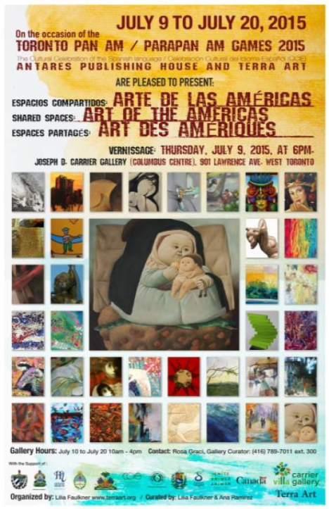 Este es el afiche de la muestra que reúne a 21 pintores de América.