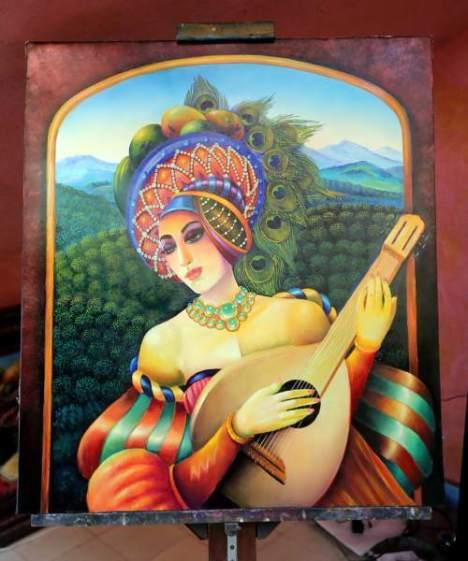 """La muestra """"Arte de las Américas"""" reúne las pinturas de artistas de 21 países del continente y Honduras está representada."""