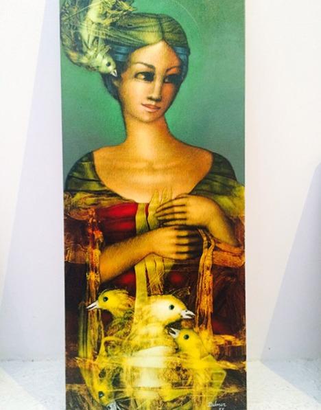 Obras del artista Delmer Mejía.
